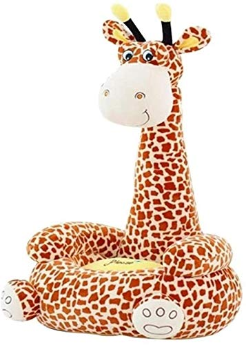 JYHF Sofá de dibujos animados para niños, sillón infantil con diseño de jirafa de dibujos animados para niños, cojín de peluche, cojín para niños (rosa) (color: rosa)