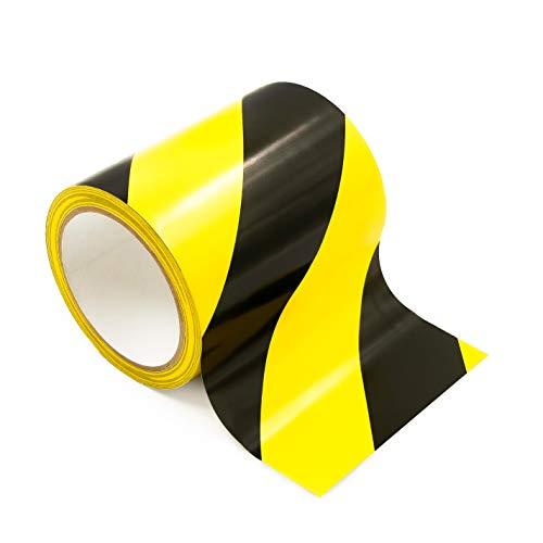 Bertech Safety Warning Hazard Floor Tape, 3 Inch x 54 Feet, Black and Yellow Stripes