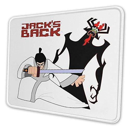 Samurai Jack y Aku Mouse Pad Gaming Mouse Pad Base de Neopreno Antideslizante con Borde Cosido PC Mousepad para la Oficina en casa