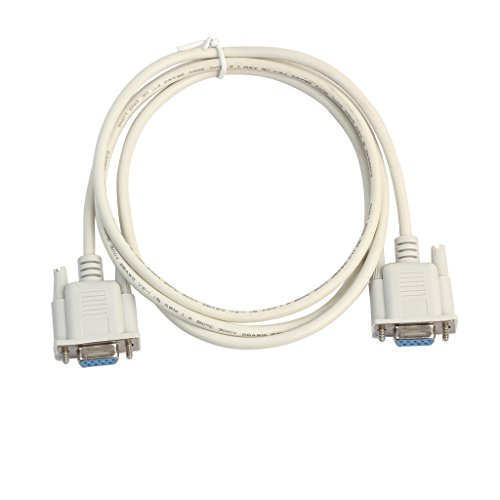 RETYLY Serielle RS232 Null Modem Kabel Female zu Female DB9 FTA Querverbindung 9 Pin COM Datenkabel Konverter PC Zubehoer 3 Meter
