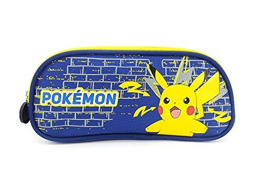 astuccio pokemon Astuccio scolastico a 2 scomparti Pokemon blu Bagtrotter