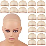 20 Pieces Wig Caps, Wig Caps for Women Lace Front Wig Stocking Caps for Wigs Nude Wig Cap (20pcs)
