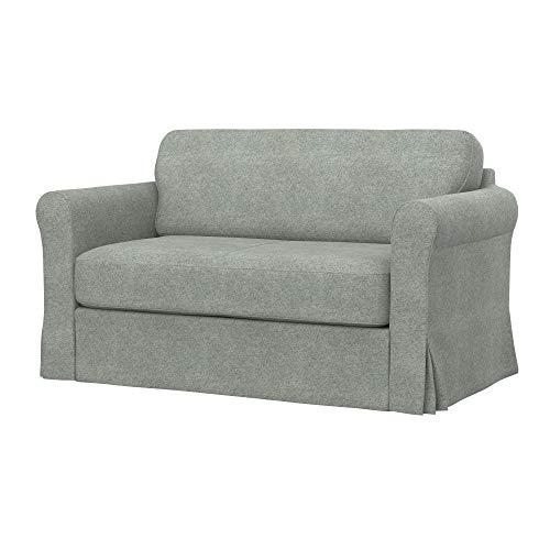 Soferia Funda de Repuesto para IKEA HAGALUND Sofa Cama, Tela Strong Light Grey, Gris