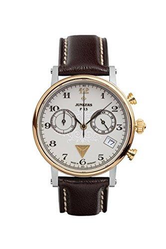 Junkers Damen Chronograph Quarz Uhr mit Leder Armband 65875