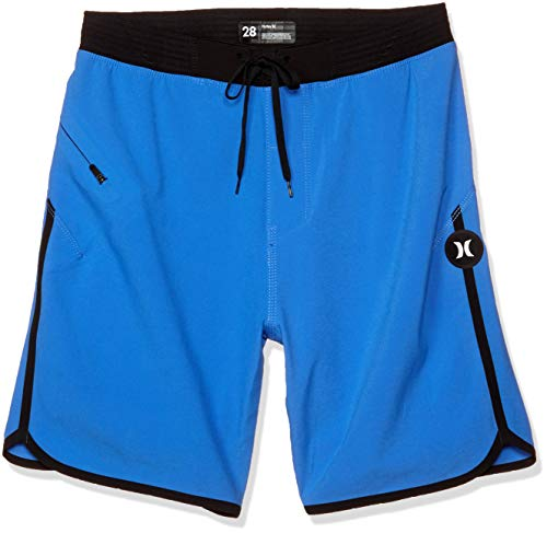 Hurley M Phtm Hyperweave Max Solid 18' Board Shorts, Pacific Blue, 32 Mens
