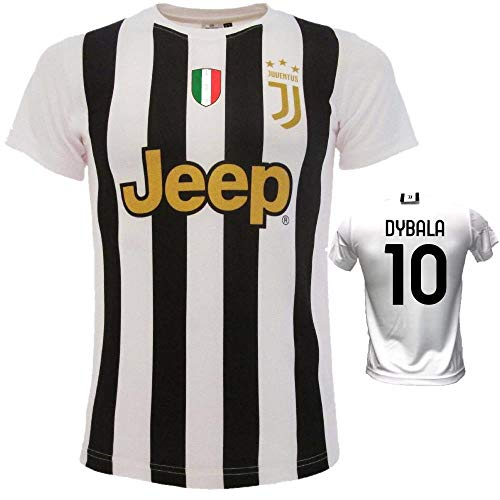 BrolloGroup Trikot Bianconera Ronaldo Dybala Chiellini De Llt Replica Serie A 2021 PS 39560-B (8 Jahre, Dybala 10)