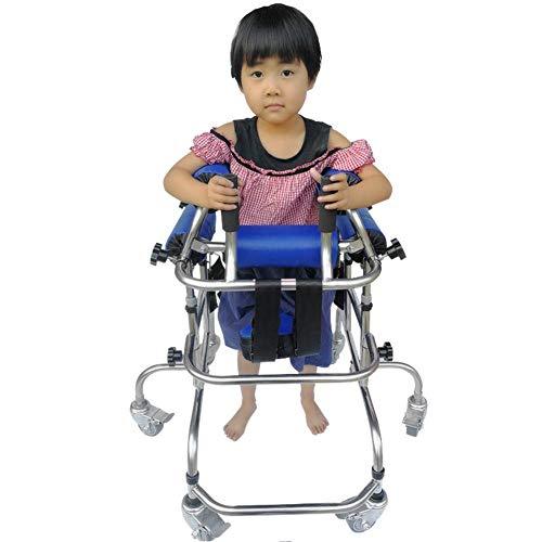 ZAQI Andador Andadores para Ancianos Caminante para Niños Discapacitados con Parálisis Cerebral/Discapacidad, Todoterreno con Ruedas Deslizantes de Acero con Asiento, Manijas, Ruedas, Carga 120 Kg