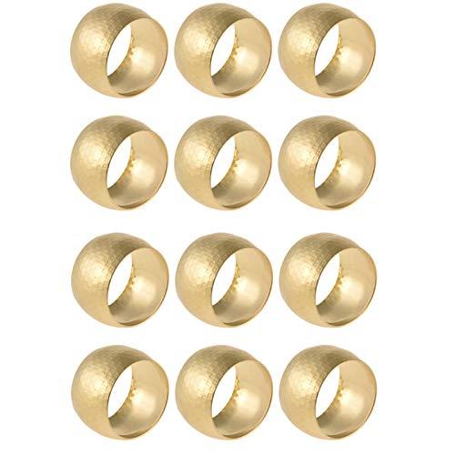 Gold Serviettenschnalle, moderne Runde Metall Serviettenring für Hochzeitsbankett Party Decor Set von 12