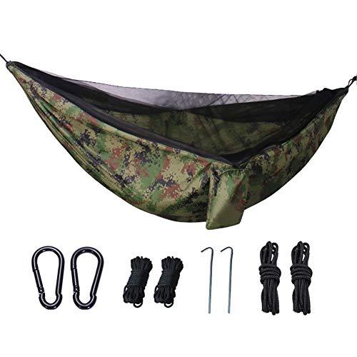 LHY Hamac De Voyage Ultra-Léger Camping avec Moustiquaire, Nylon Parachute, 300 Kg De Capacité De Charge, Respirant, Séchage Rapide, pour Camping, Randonnée