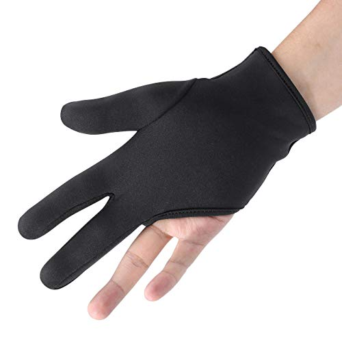 FALETO Professional Heat Resistant Gloves 3 Finger Mittens Protection Gloves for Barber Hair Styling...