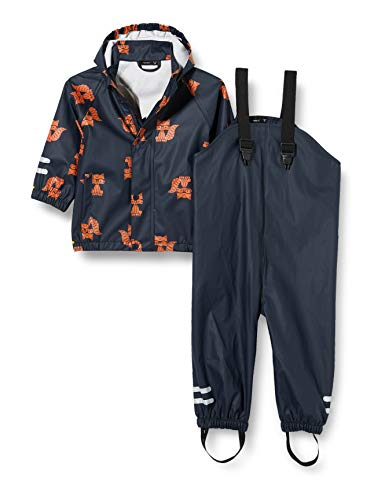 NAME IT Baby-Jungen NMMDRY RAIN Set 2FO Regenanzug, Dark Sapphire, 104
