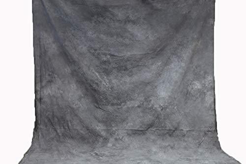 Fondo de muselina teñida a mano, color gris claro, de algodón, pintado a mano, sin brillo, pantalla de estudio de fotografía, 220 x 300 cm, XY-06