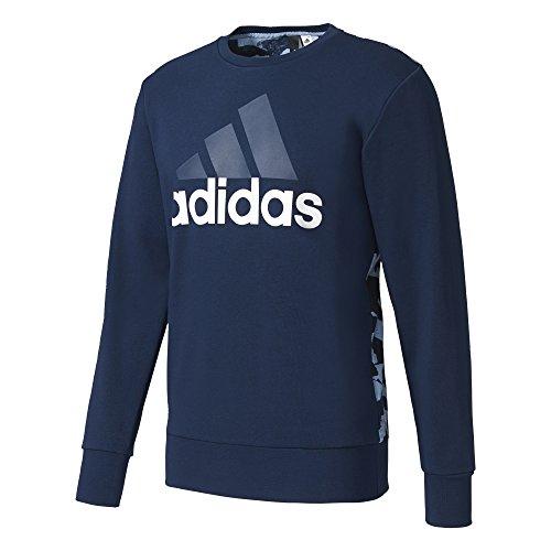 adidas ESS Linaop Crew Sweatshirt, Herren, Herren, Sweatshirt, BR7070, Blau (Maruni), XL