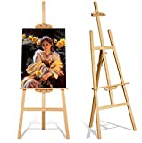 Grandink® Artist Wooden Easel Stand 5 FEET with Height and Angle Adjustment for Canvas Painting...