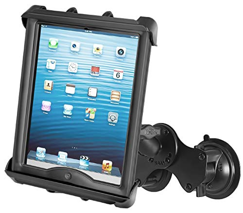 RAM-B-189-TAB8 Double Suction Cup Mount with Tab-Tite 10' Tablet Holder for Heavy Duty Cases