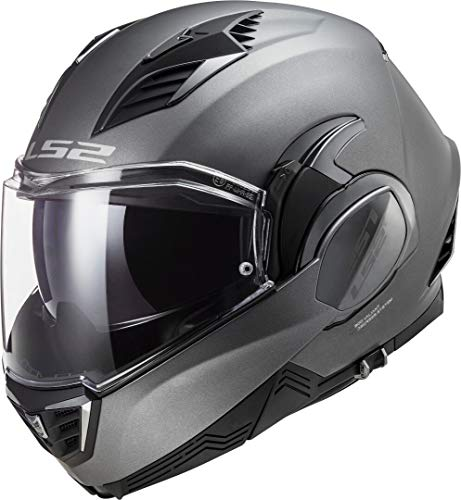 LS2, casco moto modulare VALIANT II titanio, M