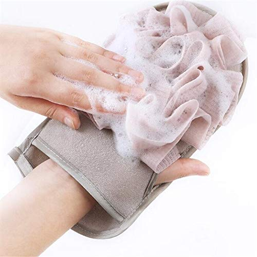 Accueil exfoliant bain éponge Wisp pour douche épurateur Double face corps nettoyage brosse gants douche bain Massage serviette boule
