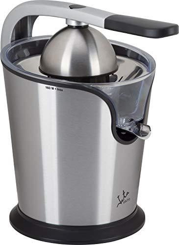 Jata Exprimidor eléctrico con brazo EX1039 - Cuerpo, filtro y vertedor de acero inoxidable, Motor AC, Extracción continua, Dos conos, Desmontable, Antigoteo
