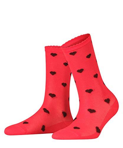 FALKE Damen Velour Beat Socken, rot (Lipstick 8000), 39-42