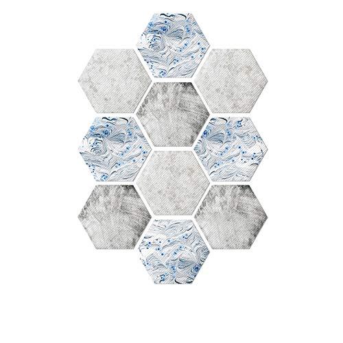 10 Piezas De Pegatinas De Suelo Hexagonales Antideslizantes Pegatinas De Suelo Resistentes Al Desgaste Pegatinas De Pared De Entrada Autoadhesivas Pegatinas De Suelo De PVC Celadón Gris Claro