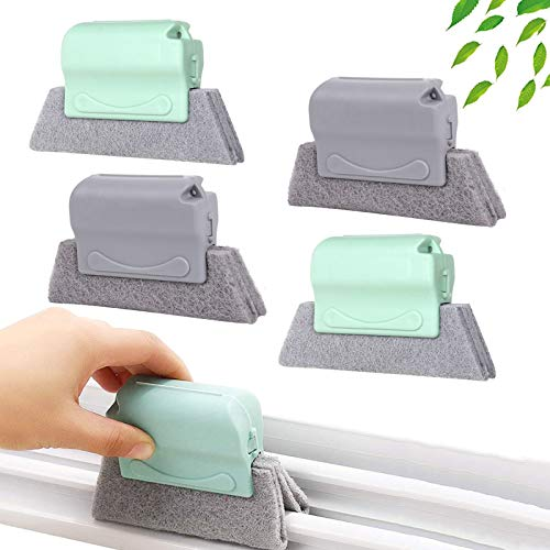 4 PCS Kreative Fensterrillen Reinigungsbürste,Reinigungsbürste für magische Fenster Reinigung Aller Ecken und Lücken,Fensterreinigungsbürste,Rillenreinigungsbürste,Reinigungsbürste Fenster