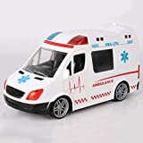 GRTVF RC Ambulance Toys for Kids Vehicle Model Remote Control Commercial Vehicle Fire Engine Special Police Car Baby Gift Children Toy (Color : White)