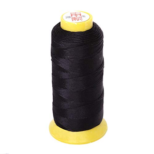 Sewing Thread Cord For Rope 0.25Mm 0.5Mm 0.75Mm 1.2Mm Silk Beading String Nylon Cord Costume DIY Jewelry Making Black 0.25mm 900yard