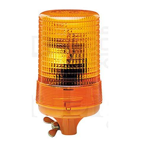 HELLA 2RL 004 957-111 Rundumkennleuchte - KL 700 - Halogen - H1 - 24V - rund - Lichtscheibenfarbe: gelb - Rohrstutzen