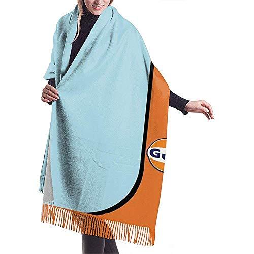 An Green Gulf Racing Winter Long Cashmere Scarf Shawl Wild Soft Wool Einseitiger Druck in voller Breite