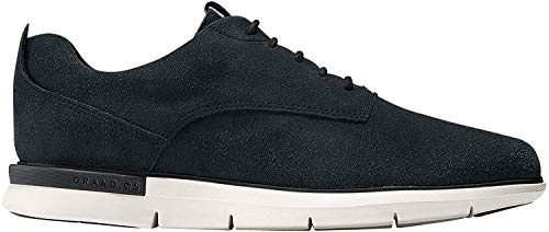 Cole Haan Men's Grand Horizon Oxford II, Black Suede/Ironstone, 7.5 Medium US