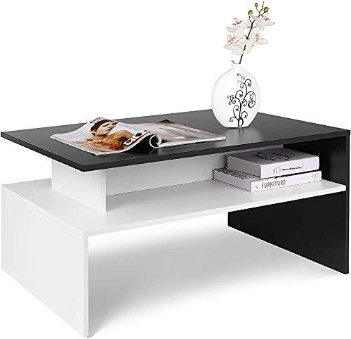 Una mesa rectangular con un compartimiento de almacenamiento abierto,Black