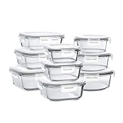 powerful Bayco glass storage container with lid, 9 sets of sealed glass cooking containers, glass food containers …