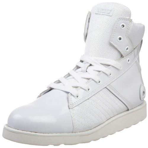 Heyday Footwear Men's Johnny K Fashion Hi Top Sneaker,White Patent,10 M