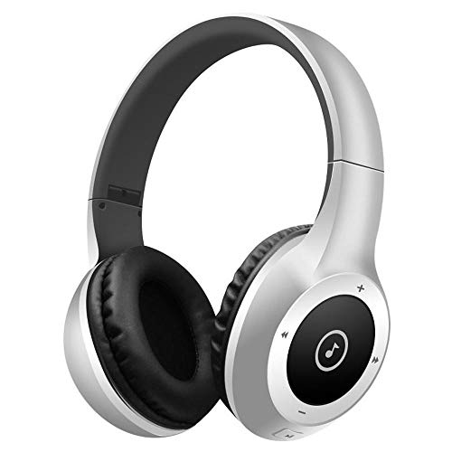 Best Shopper - T8 Stereo Bluetooth Over- Ear Headphones Wireless Folding Gaming Headset with Microphone - Silver