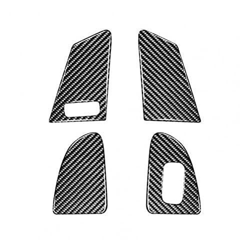 YFQH 4 piezas de fibra de carbono para interruptor de elevación, panel de montaje de ventana para Volvo V60/S60/XC60 (nombre de color: negro)
