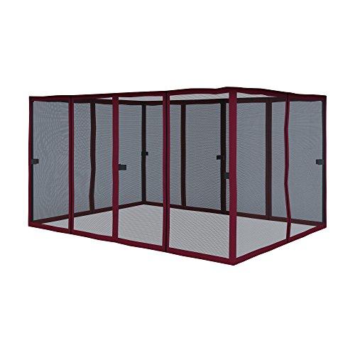 paramondo Pared Lateral mosquitera para Comfort Gazebo Pabellón de jardín Cenador, Burdeos - Solapa Color Antracita, Pack de 6