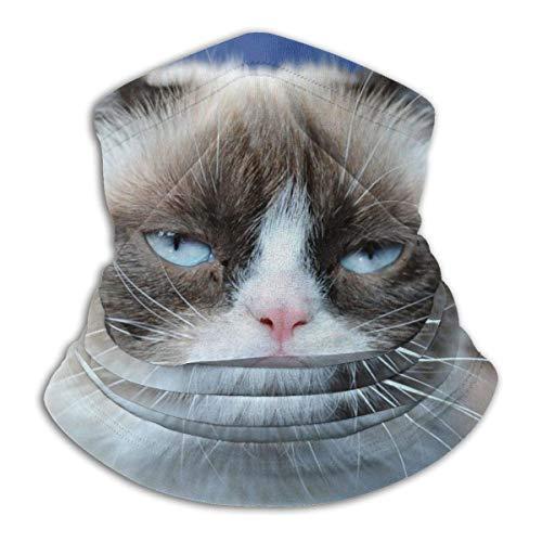 ZT-shop Mikrofaserrohr mürrisch Katzenhalswärmer Gesichtsmaske Schild Schutz Bandana Stirnband & Beanie-one_color-