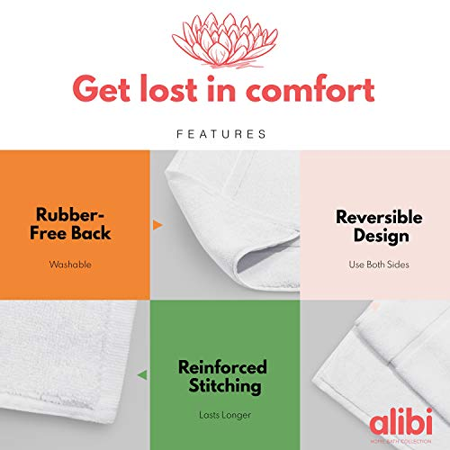 2 Pack NOT a Bathroom Rug - White 20 X 30 Hotel /& Spa Shower Step Out Floor Towels Alibi Towel Bath Mats