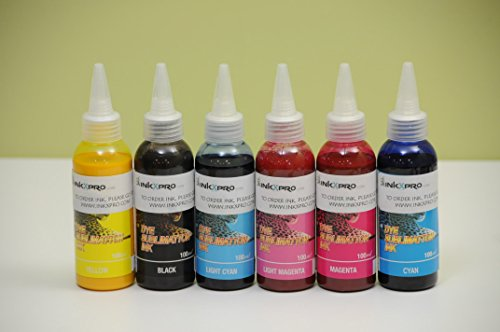INKXPRO BRAND 6 X 100ml Professional True Color Sublimation ink refills for Artisan 1430, 50, 837,730 1400 printers (For sublimation printing only)