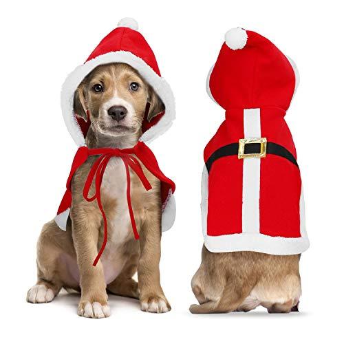 Nobleza Weihnachtskostüm Katze, Hunde Weihnachts kostüm, Weihnachten Haustier Kleidung, Santa Anzug mit Claus Kappe und Santa Hut