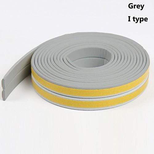 5 / 10M D/E/P/I Type Schuim Weer Tocht Excluder Zelfklevende Raam Deurafdichting Raam Accessoires Afstoffen Afdichtband, Grijs-I Type, 10M