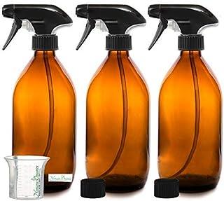 Botella Agua Aceite Vidrio Cristal 1 Litro Cuadrada y tap/ón de madera Pack de 16 Unidades