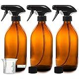 Nomara Organics BPA frei Bernstein Glas Spray Flasche 3 x 500 ml. BPA frei Pumpe/...