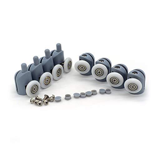 Set mit 8 Einzelrollen für Duschkabinentür, 20 mm Durchmesser, Ersatzteile