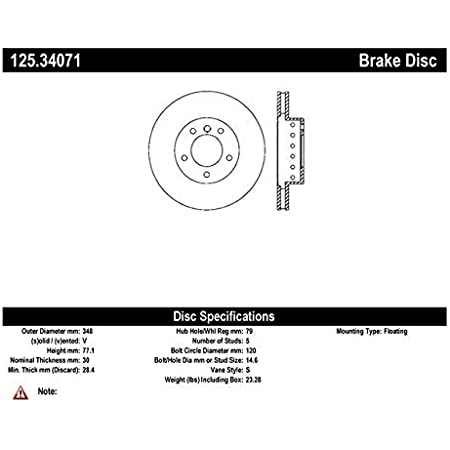 Centric 125.34070 Front Brake Rotor