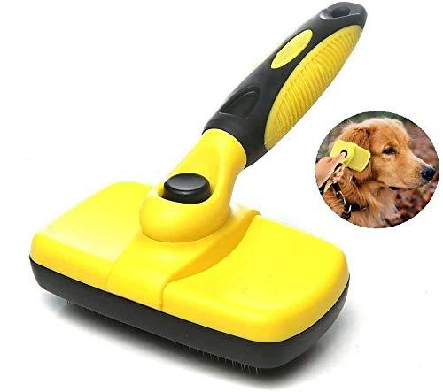ペット スリッカーブラシ 毛取り ワンプッシュで抜け毛除去 犬 猫用 セルフクリーニング ブラシ
