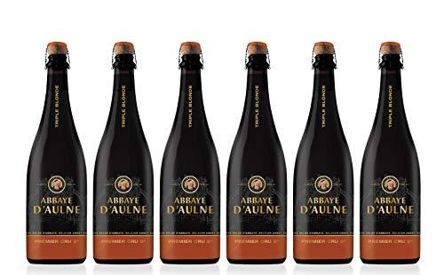 Abbaye D'Aulne - Cerveza de Abadia Belga Premier Cru Triple Blonde - Pack de 6 Botellas de 75 cl