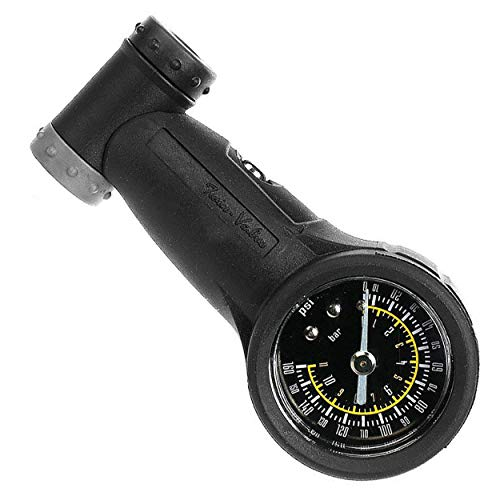 Venzo Bicycle Air Tire Pressure Gauge - Single or Dual Face - High or Low Pressure Presta Schrader PSI or Bar - Great for Bike Car Truck Motorcycle Tire and Suspension Shock 160 PSI /11 Bar