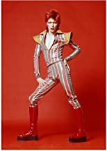 David Bowie Dressed in Rock Glam with Red Hair and Mega Red Boots 8 x 10 Inch Photo
