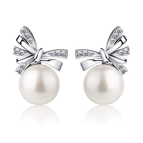 B.Catcher Cadeau de la Saint - Valentin, boucles d 'oreilles d' argent pour femmes, boucles d 'oreilles d' eau douce Culture